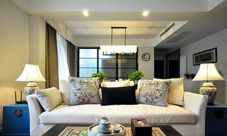 100平米古典中式裝修風格三居裝潢案例圖