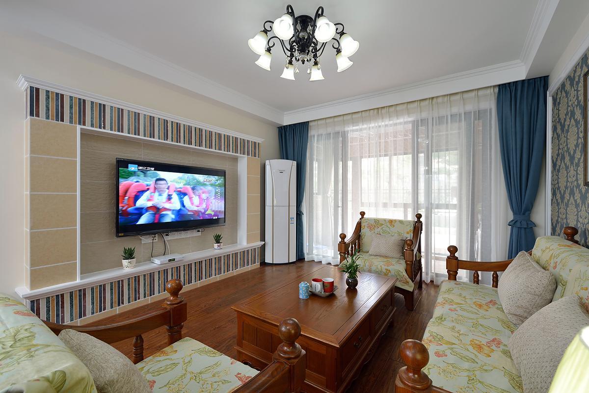 朴实美式乡村装修风格二室二厅样板房