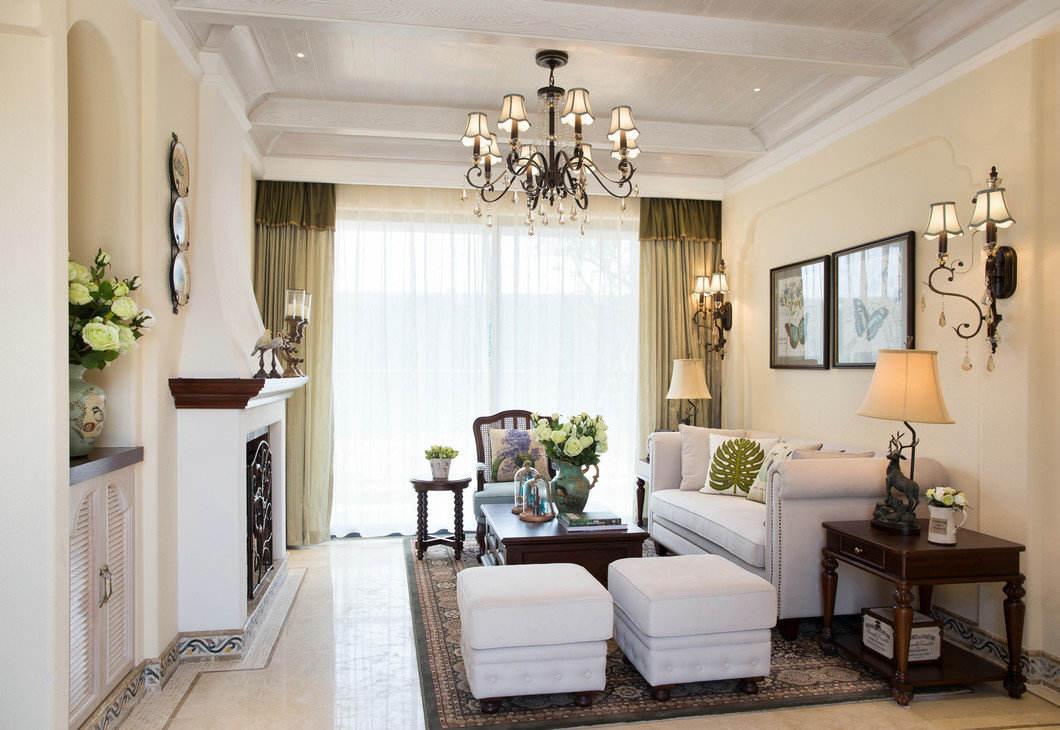 简约休闲美式客厅家装效果图大全