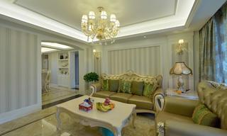 欧式风格绿色客厅装饰图片