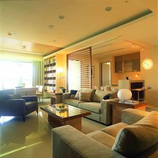 简约清新宜家风格客厅书房设计装修图