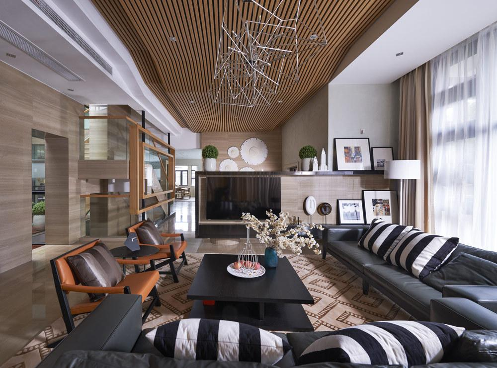 后现代设计装修风格别墅室内效果图