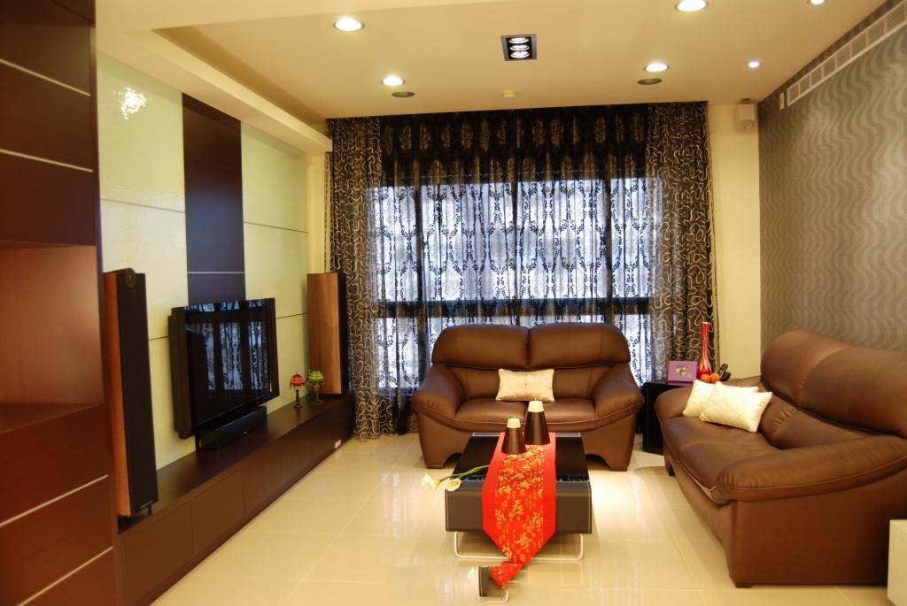 温馨现代复古风混搭客厅效果图大全