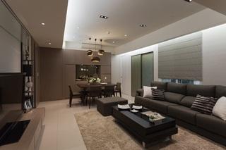 55平现代简约一居室室内设计装潢案例