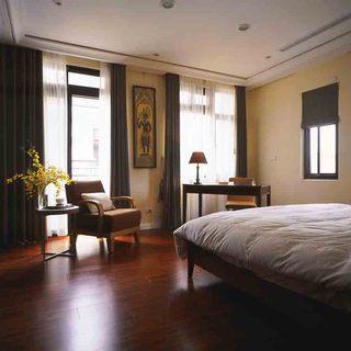 简朴田园中式风格卧室办公休闲区设计