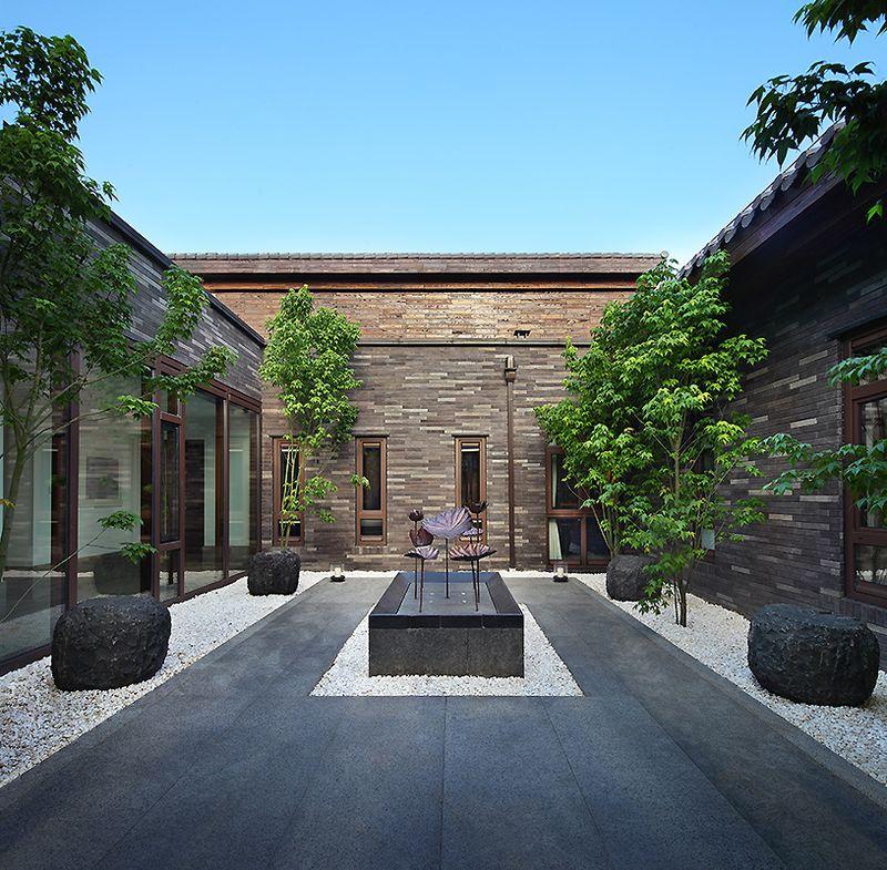 雅致中式新古典别墅庭院效果图片欣赏