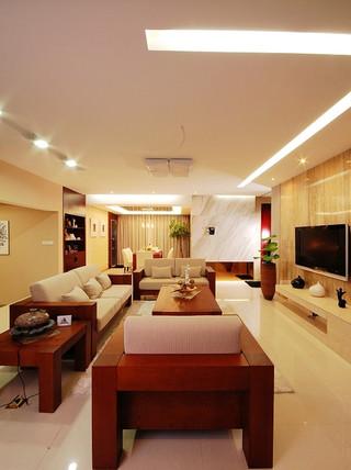 135平儒雅简中式家居室内装饰效果图