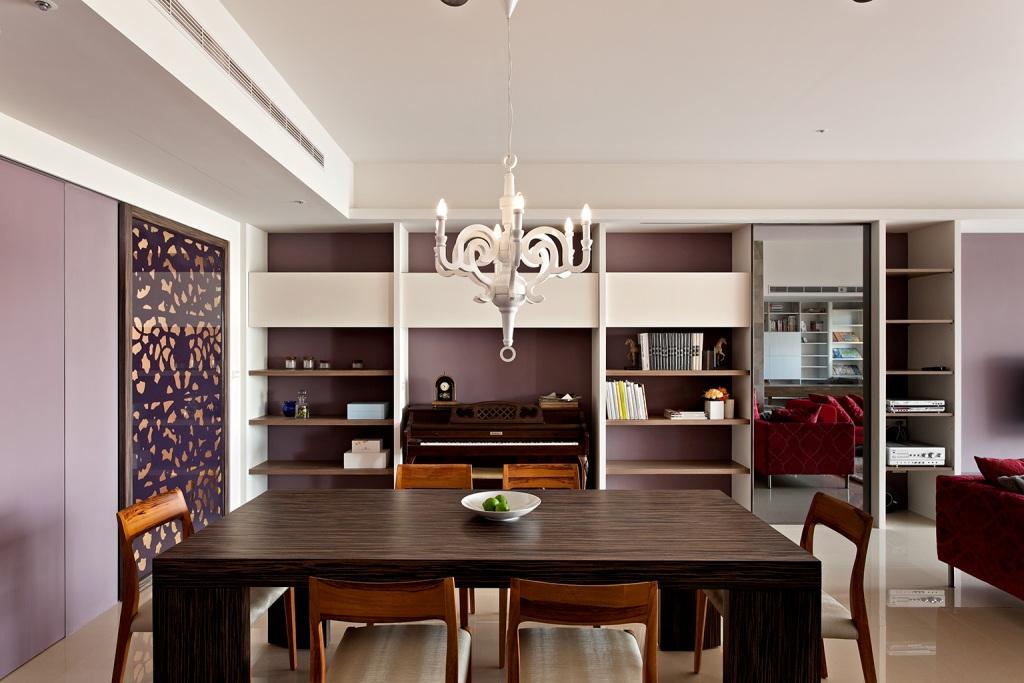 时尚现代新中式装修风格餐厅效果图