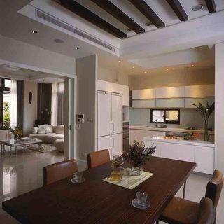 简朴田园中式风格二居室内装修样板间