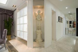 白色唯美典雅简欧风格过道艺术品设计