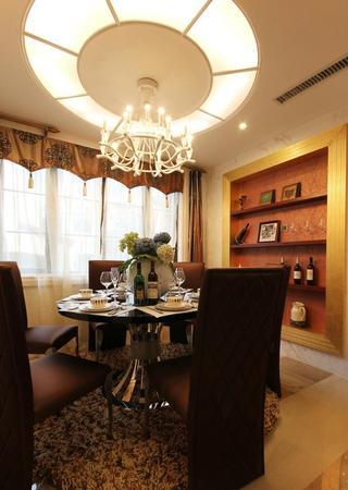 大气奢华欧式风格别墅餐厅吊顶设计装修图