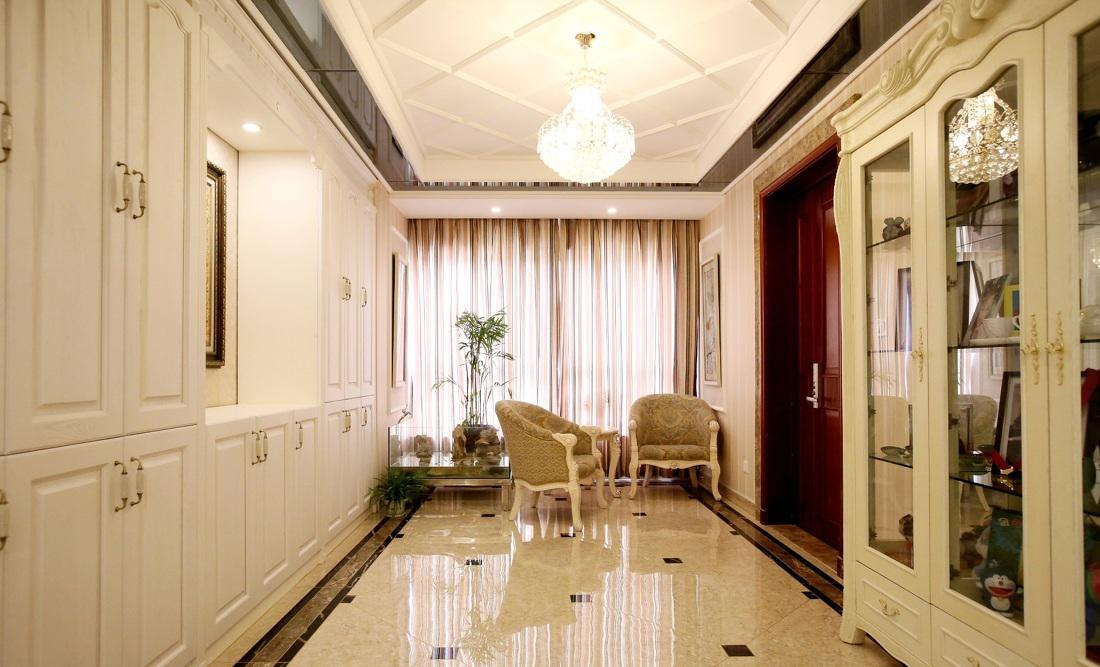 时尚欧式风格大三居玄关设计装修图