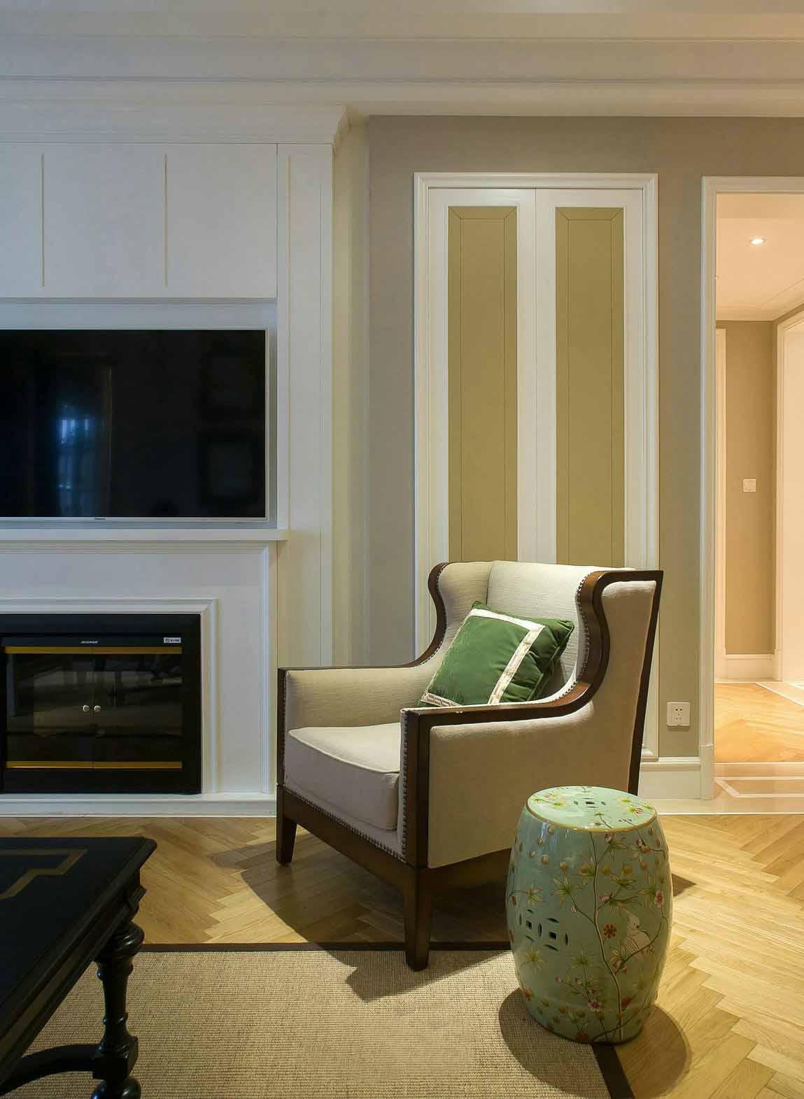 舒适简约美式室内沙发装修图片