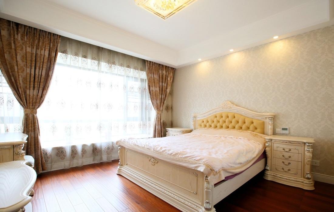 古典精美欧式风格卧室窗帘装饰效果图