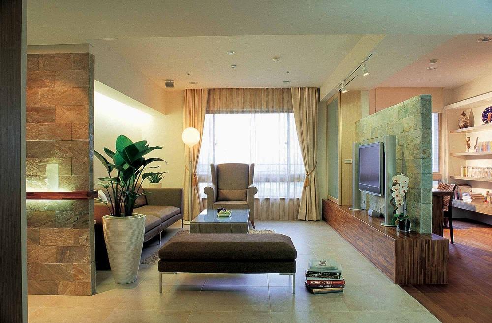 简约清新宜家风格三居室内隔断设计效果图