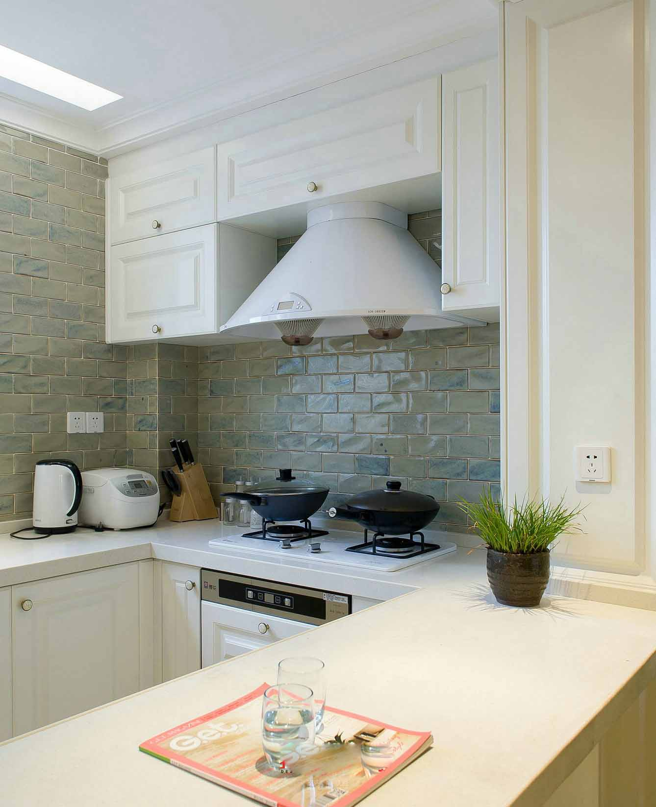 时尚舒适美式室内厨房装修图片