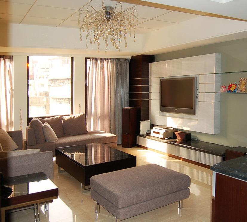 现代华丽装修风格客厅电视背景墙设计效果图
