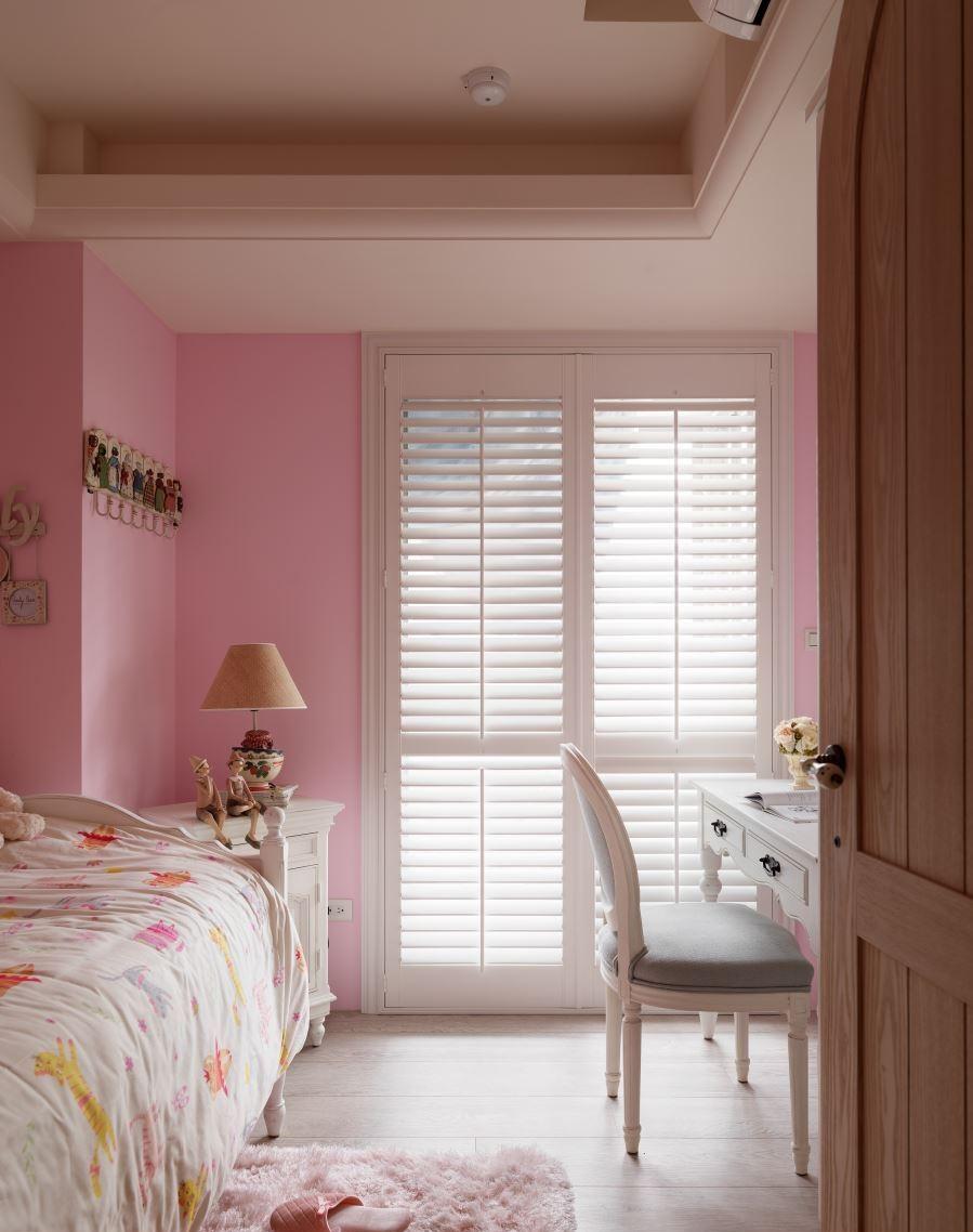 粉色可爱田园风儿童房设计装修图