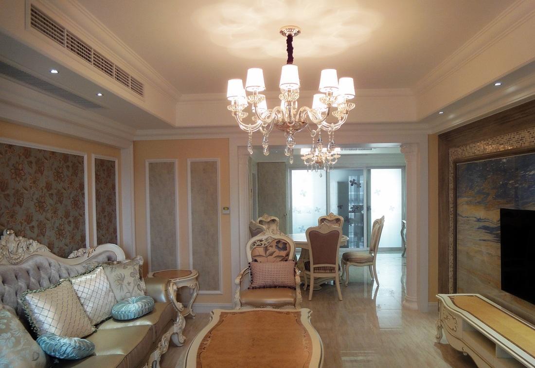 优雅别致欧式风格二居室内隔断效果图