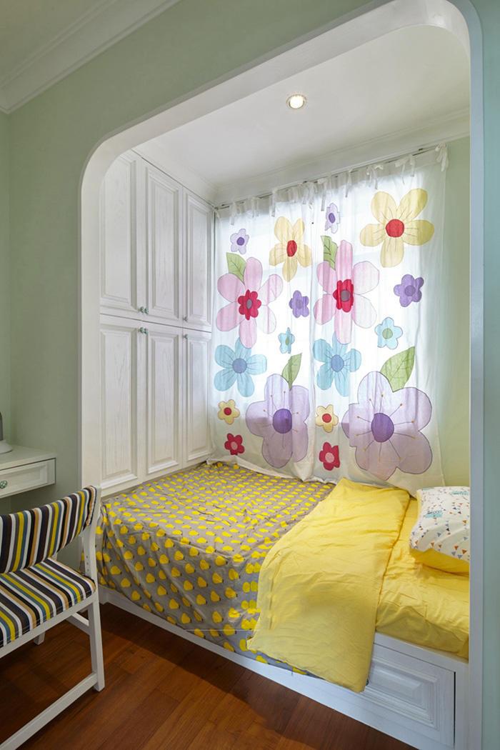 活泼清新北欧风室内飘窗设计效果图片
