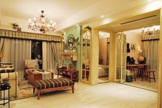 浪漫复古美式田园风客厅隔断设计