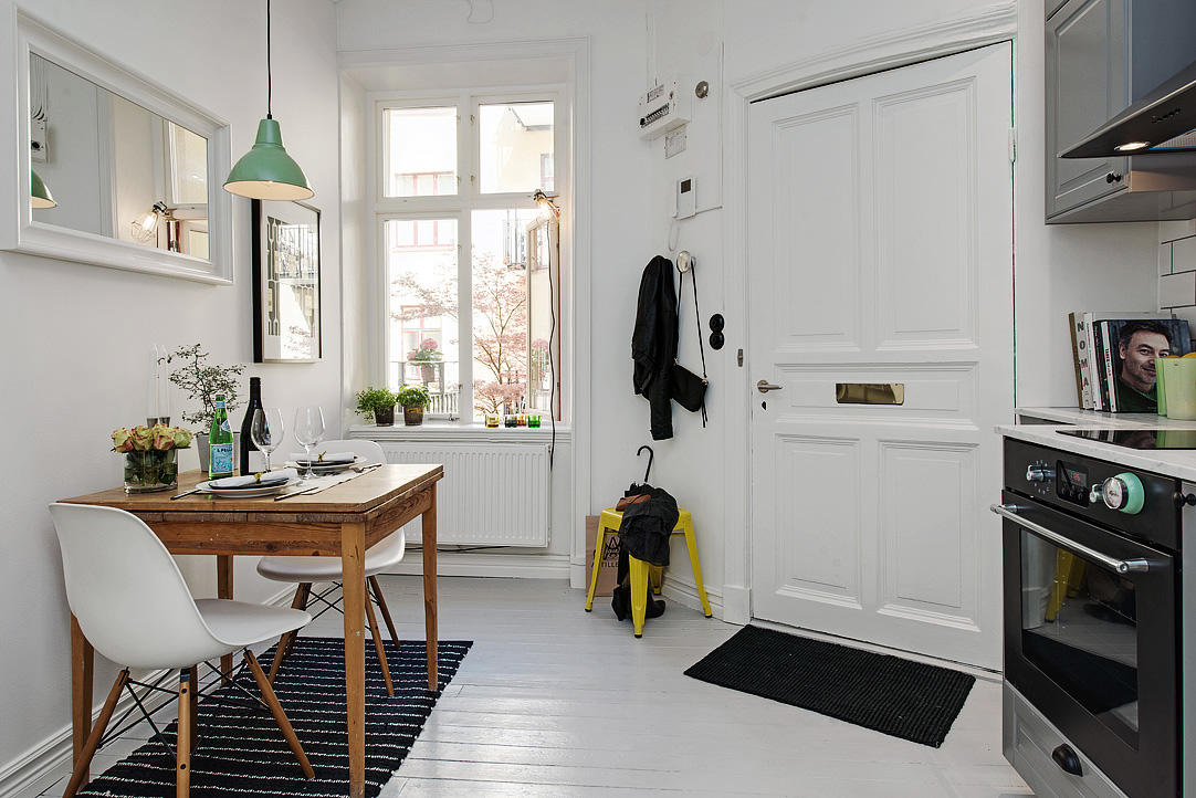 个性北欧风餐厨房一体设计效果图