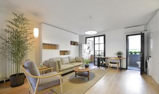 60平极简现代中式公寓设计装修案例欣赏图
