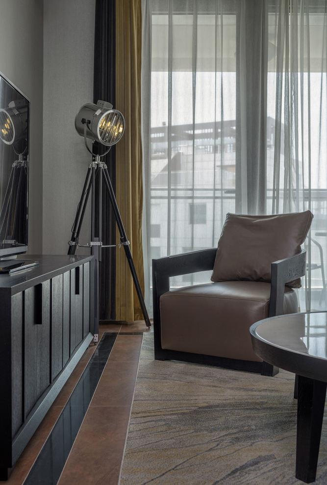简约现代家居真皮沙发配置效果图