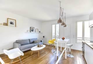 极简清新客厅小沙发吧台效果图