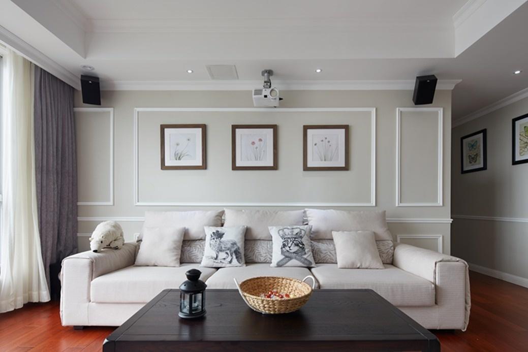 时尚简美风格客厅沙发背景墙装饰效果图