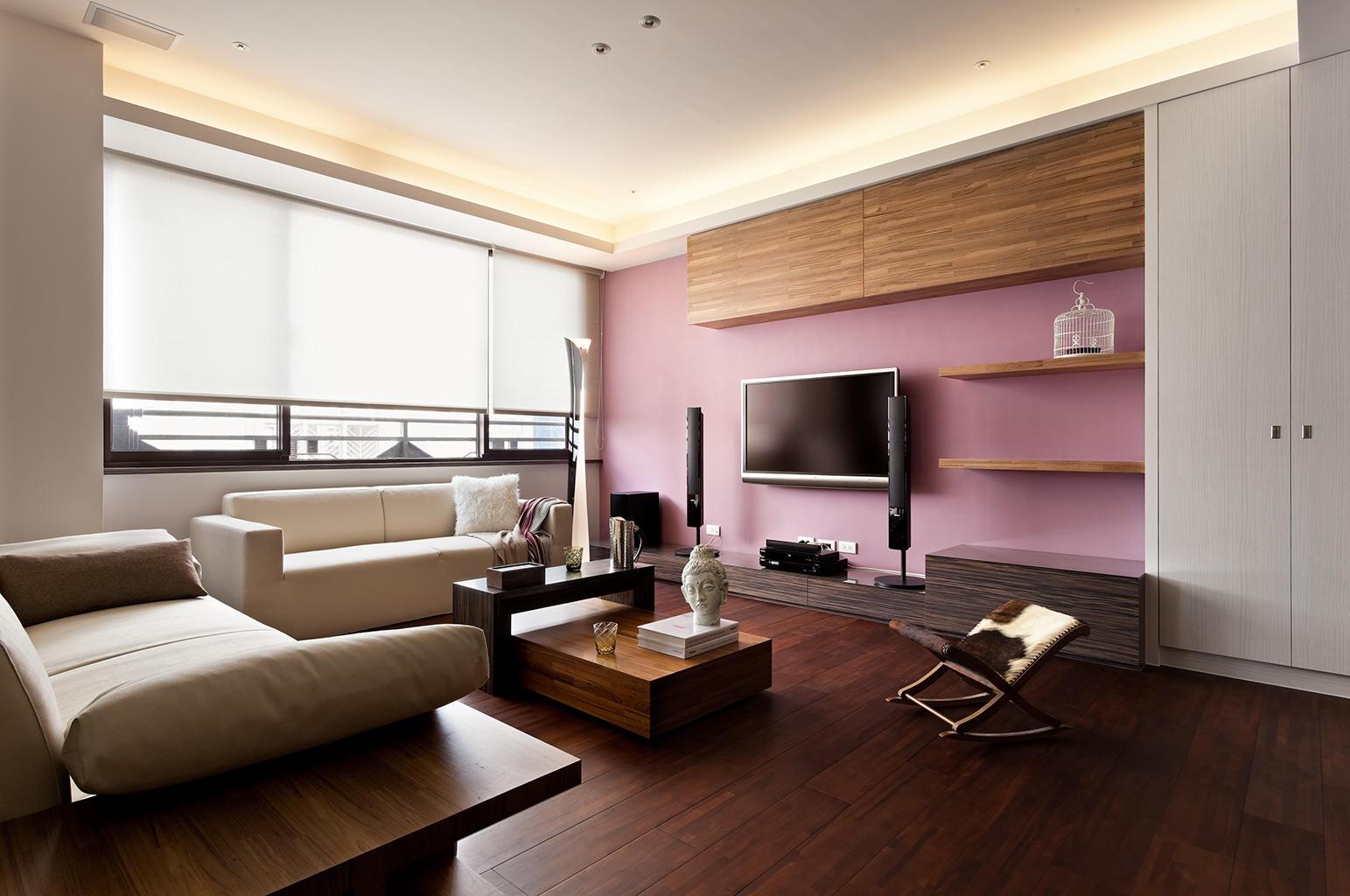 简约现代装修风格二居客厅设计效果欣赏图