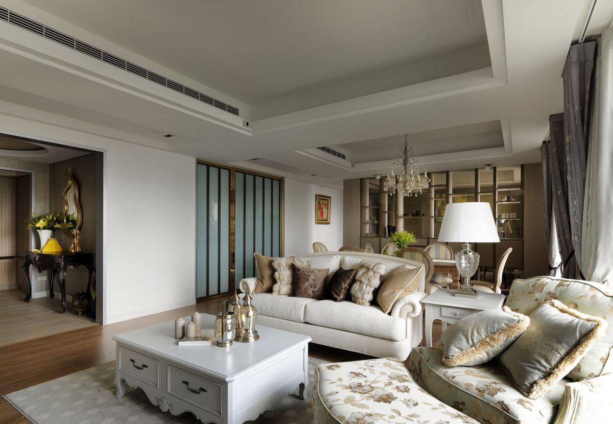 简约美式装潢风格二居室内设计图