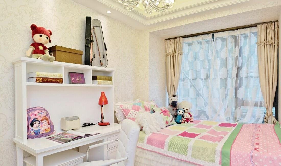 可爱温馨简欧儿童房装饰效果图