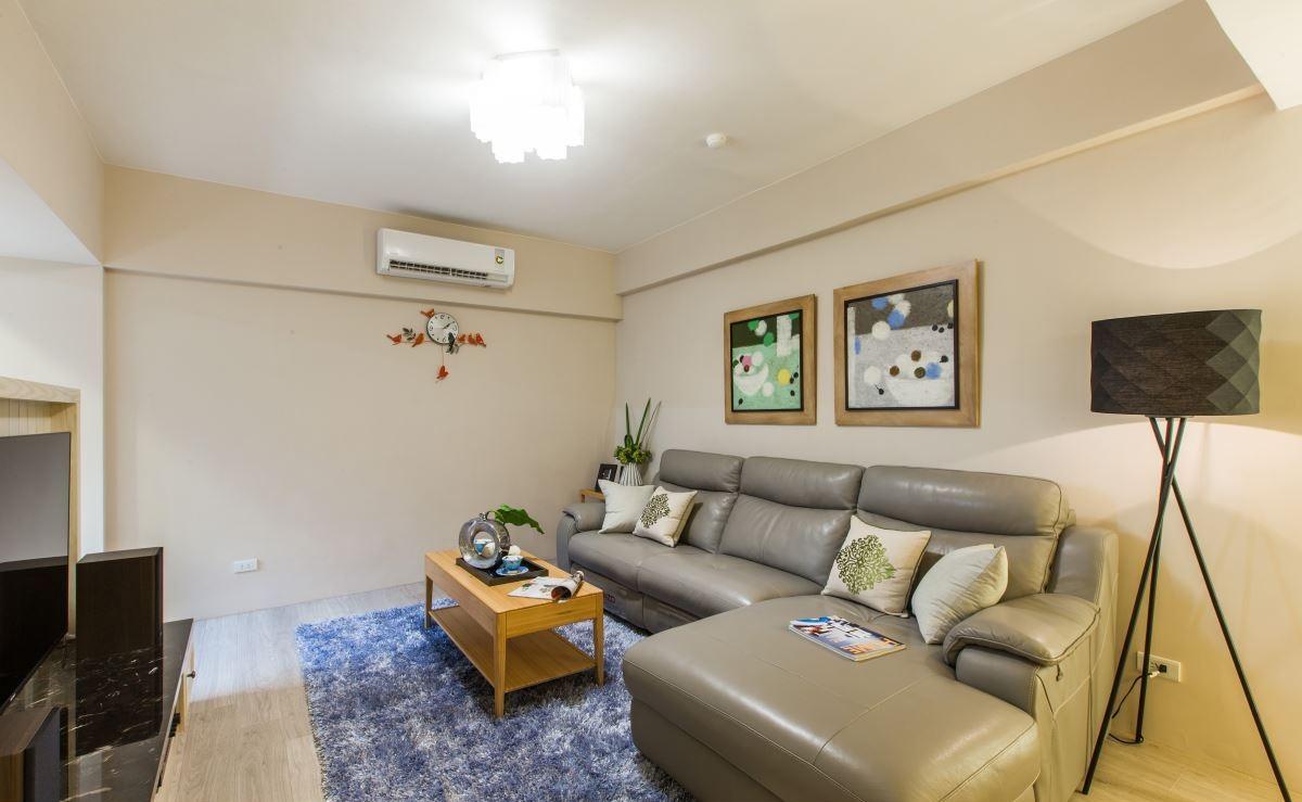 简约田园风格客厅沙发背景墙效果图