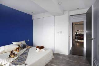蓝色现代设计风格儿童房设计装修图