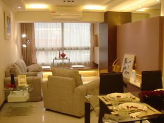 温馨简约现代暖黄色客厅效果图