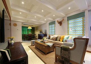 小清新美式乡村风复式家装效果图