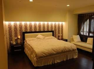 简约卧室床头背景墙设计