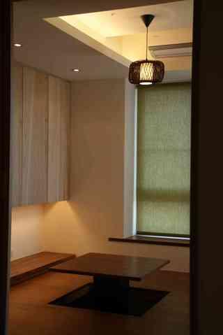日式简约设计休闲区升降地台效果图