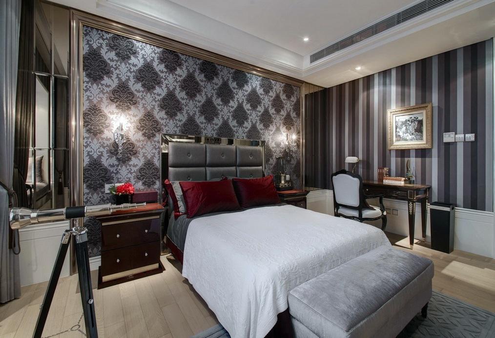 摩登现代奢华风主卧室设计装修效果图