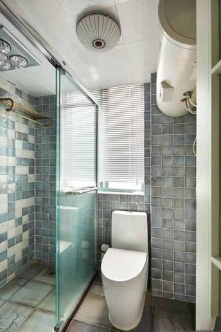 清凉地中海风格干湿分离卫生间吊顶设计
