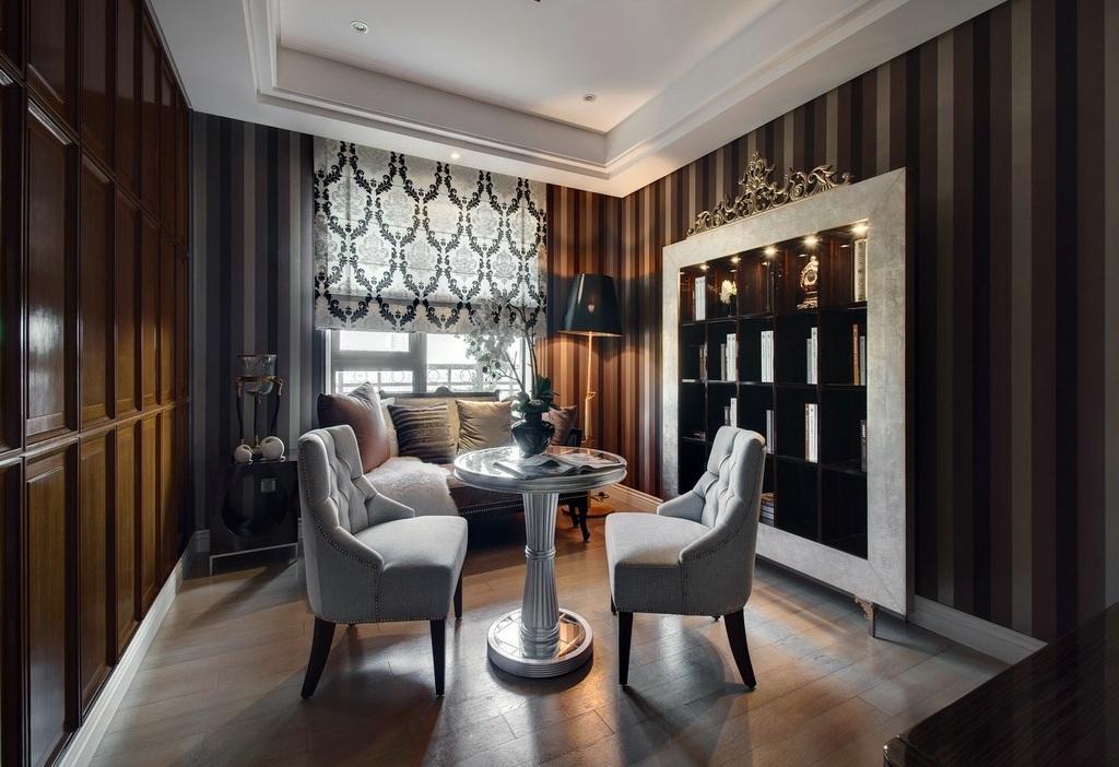 摩登现代奢华风二居休闲区设计装潢欣赏图