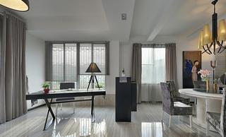 时尚灰系现代家居窗户设计效果图