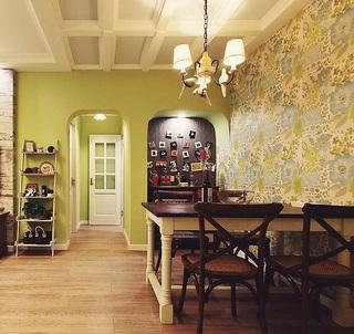 美式风格绿色二居室装修图片欣赏