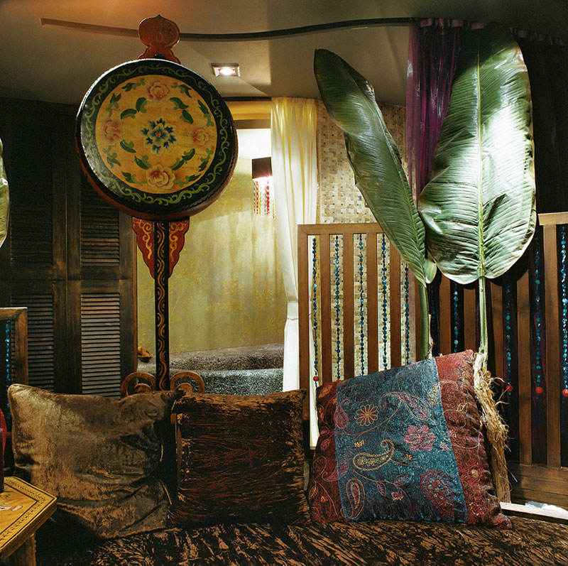 精致复古东南亚客厅局部沙发装修效果图
