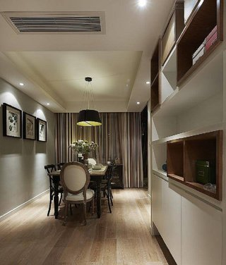 古典美式风格餐厅相片墙装饰欣赏图