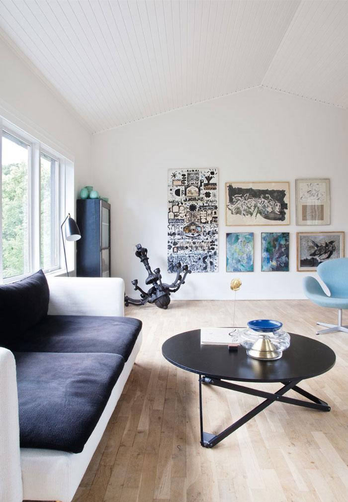 时尚北欧客厅个性涂鸦照片墙布置