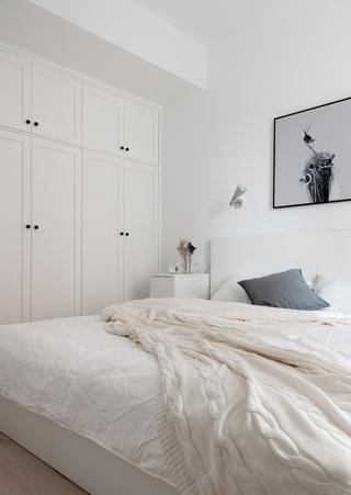 舒适简约北欧家装纯白卧室效果图