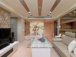 浪漫暖色系简约现代风格三居室装饰设计