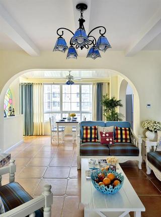 精美复古地中海风客厅装修图片大全欣赏